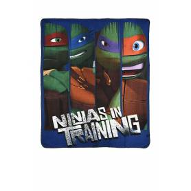 Tortues Ninja - Plaid Couverture Polaire - Enfants - 120 x 140 cm