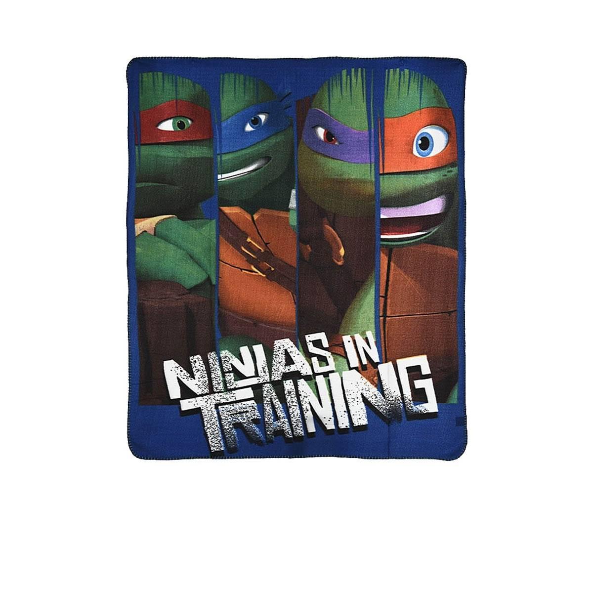 Tortues Ninja - Plaid Couverture Polaire - Enfants - 120 x 140 cm