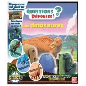 Jeu Scientifique - Hatch'n Heroes - Coffret Expert Dino - 3 Oeufs et 1 Livre
