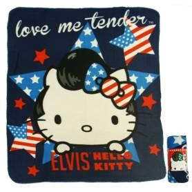 Hello Kitty - Elvis - Plaid Couverture Polaire Enfant - 120 x 140 cm