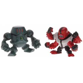 BEN 10 - Pack de 2 Minis Figurines - Fourarms & NRG