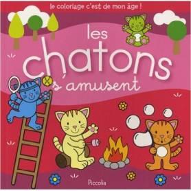 "Coloring book - ""Kittens are having fun"""