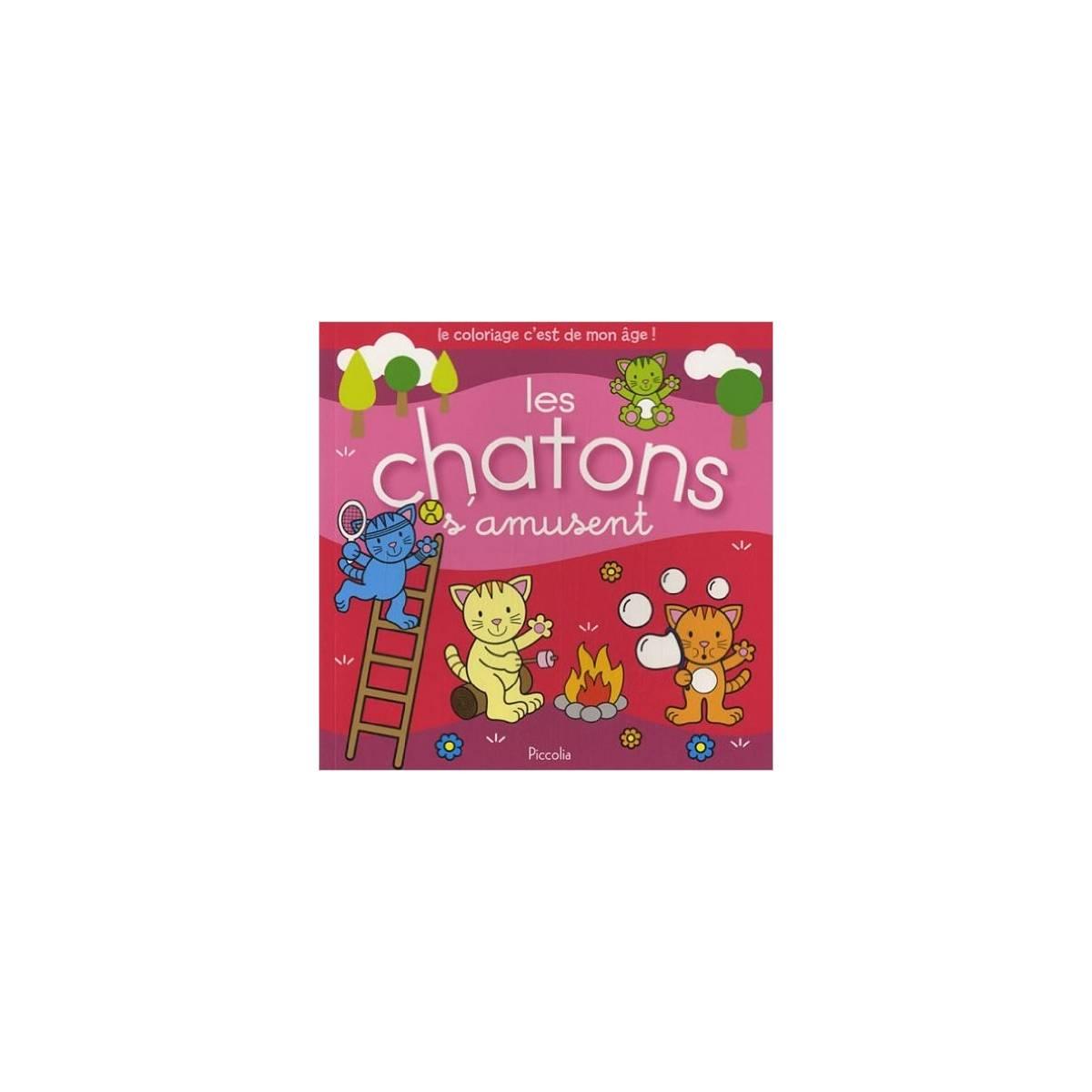 """Livre de Coloriage - """"Les chatons s'amusent"""""""