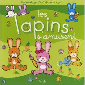 "Coloring book - ""Rabbits are having fun"""