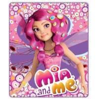 Mia and Me - Plaid Couverture Polaire Enfant- 120 x 140 cm