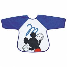 Mickey - Bavoir Tablier 2e Age - M is for Mouse Bleu - BabyCalin