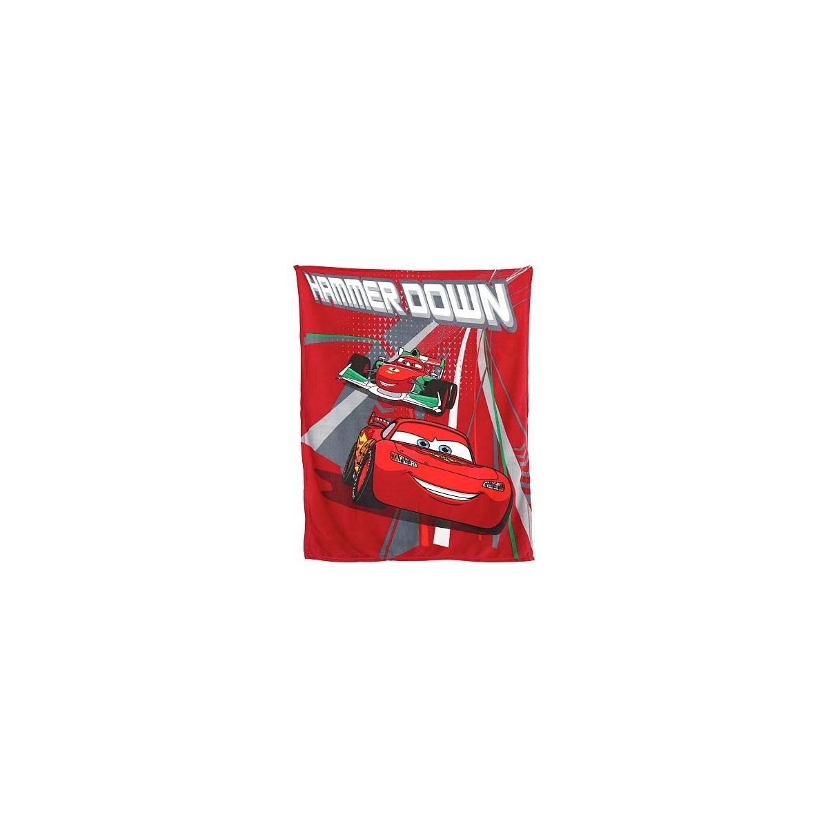 Cars Flash McQueen - Plaid Couverture Polaire Enfant - 120 x 150 cm