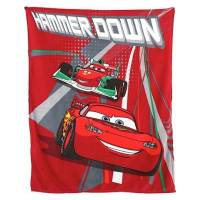Cars Flash McQueen - Plaid Couverture Polaire Enfant - 120 x 150 cm