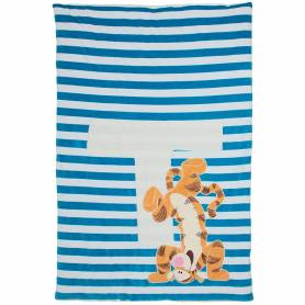 BabyCalin - Plaid Couvre-Lit Tigger - Bleu - 80 x 120 cm