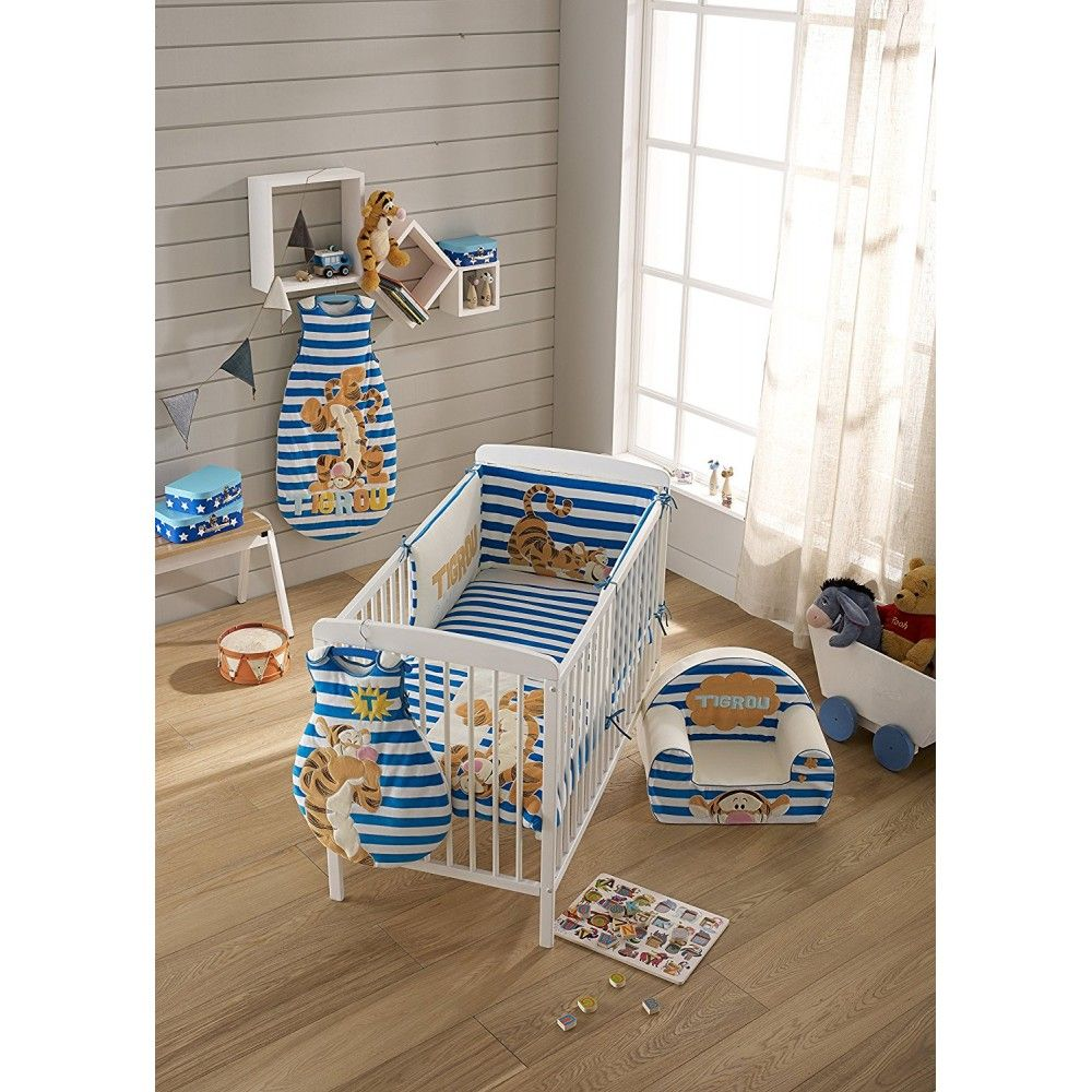 babycalin tour de lit tigger bleu 40 x 180 cm. Black Bedroom Furniture Sets. Home Design Ideas