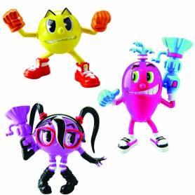 PacMan - Pack de 3 Figurines Articulée de 5 cm - Pac, Cylindra et Spirale