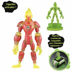 Ben10 - Figurine Heatblast + mini-figurine bonus