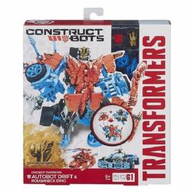 Transformers 4 - Autobot Drift & Roughneck Dino - Construct Bots - A6166