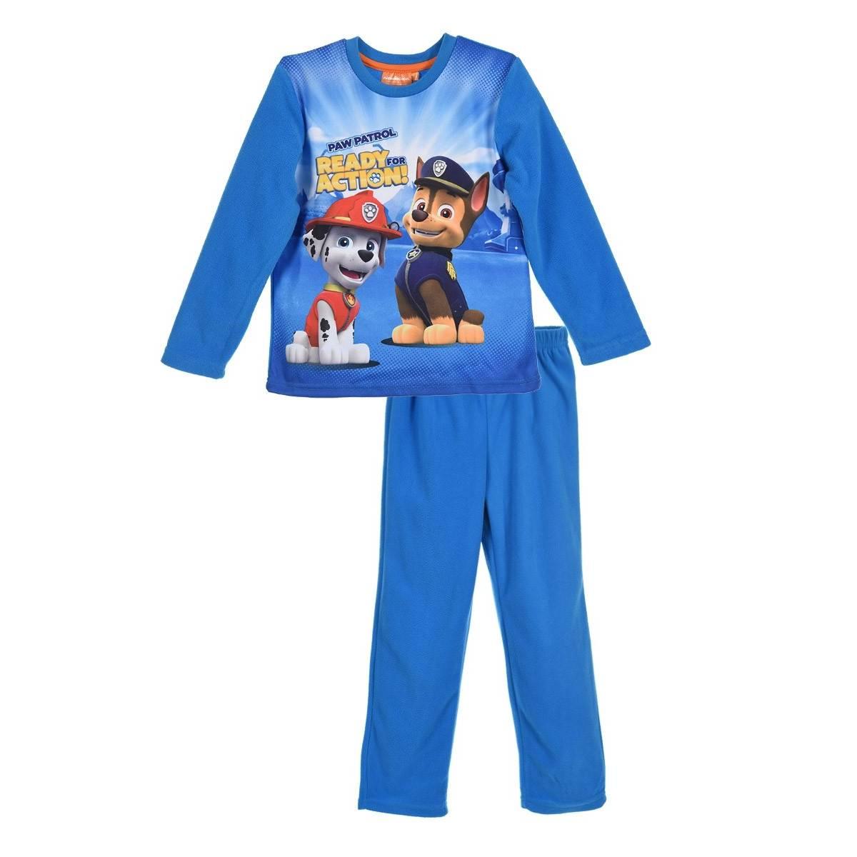 La Pat'Patrouille - Pyjama garçon matiere polaire imprimé - du 4 au 8 ans