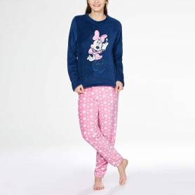 Minnie Pyjama adulte en polaire - du S au XL - bleu