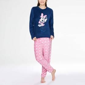 Minnie Pyjama adulte en polaire - du S au XL - bleu