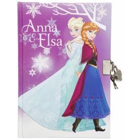 Frozen - Deluxe Diary mit Vorhängeschloss - Elsa und Anna und Olaf