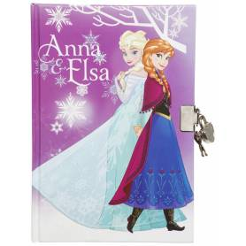 Frozen - Deluxe Diary with Padlock - Elsa and Anna and Olaf