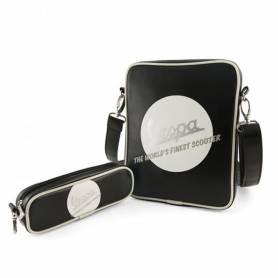 """Vespa Sacoche Tablette 13"""" noire et blanche + trousse"""