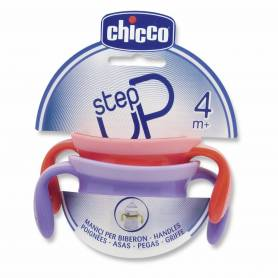 Chicco 2 anses Fille Violet/Rose pour biberon Step Up