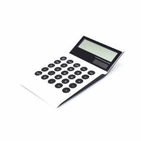 Calculatrice Solaire de Bureau Blanche