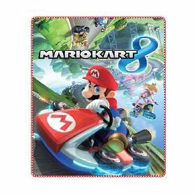 Mario Kart - Plaid Couverture Polaire Enfant - 80 x 10 cm