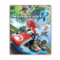 Mario Kart - Plaid Couverture Polaire Enfant - 80 x 100 cm