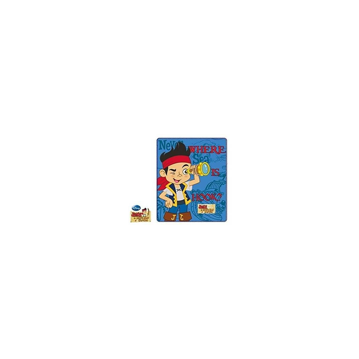 Jake et les Pirates aux Pays Imaginaires - Plaid Couverture Polaire Enfant - 120 x 140 cm