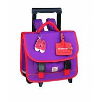 BENSIMON - Cartable à Roulette fille Primaire - Violet - 41 cm - 3 compartiments