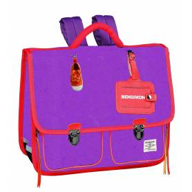 BENSIMON - Cartable Vintage Violet - 38 cm - 2 compartiments