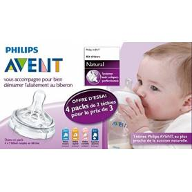 Philips Avent - Kit Tétines Natural pour biberons Avent
