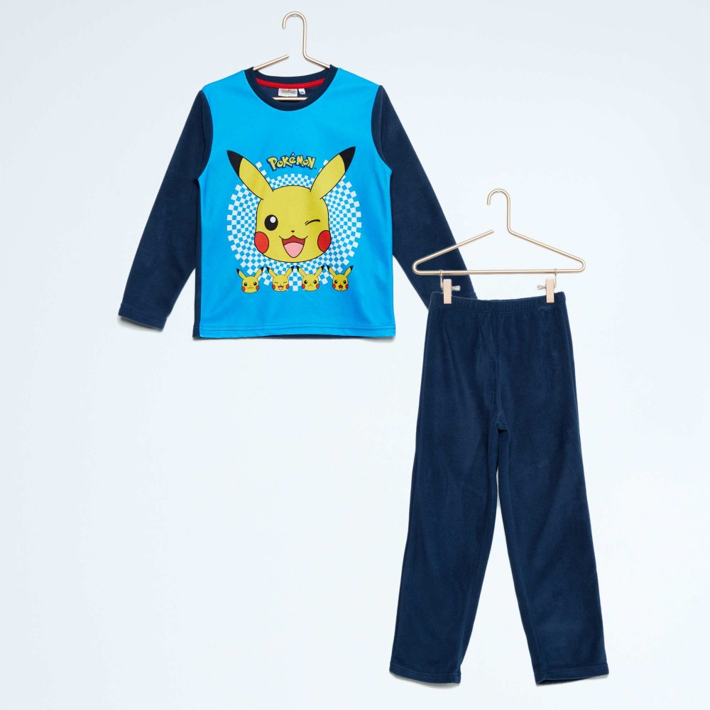 pokemon pyjama polaire du 4 au 12 ans bleu. Black Bedroom Furniture Sets. Home Design Ideas