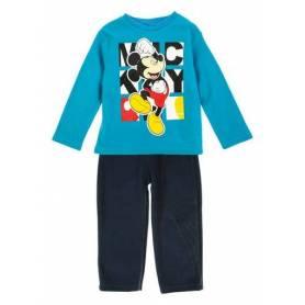 mickey mouse pyjama gar on polaire bleu 3 au 8 ans. Black Bedroom Furniture Sets. Home Design Ideas
