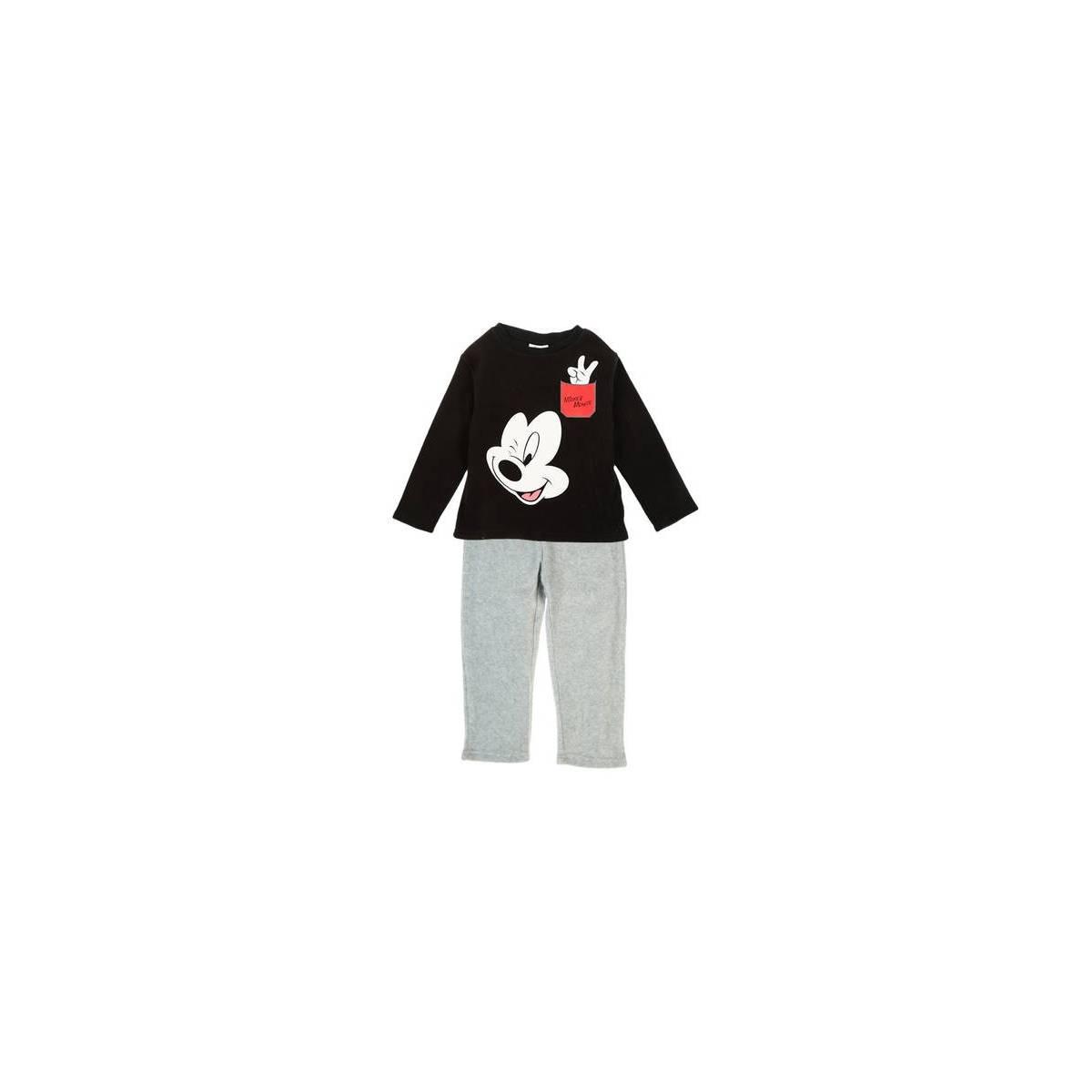 d220b90a60e55 Mickey Mouse - Pyjama enfant mickey polaire noir - 3 au 8 ans
