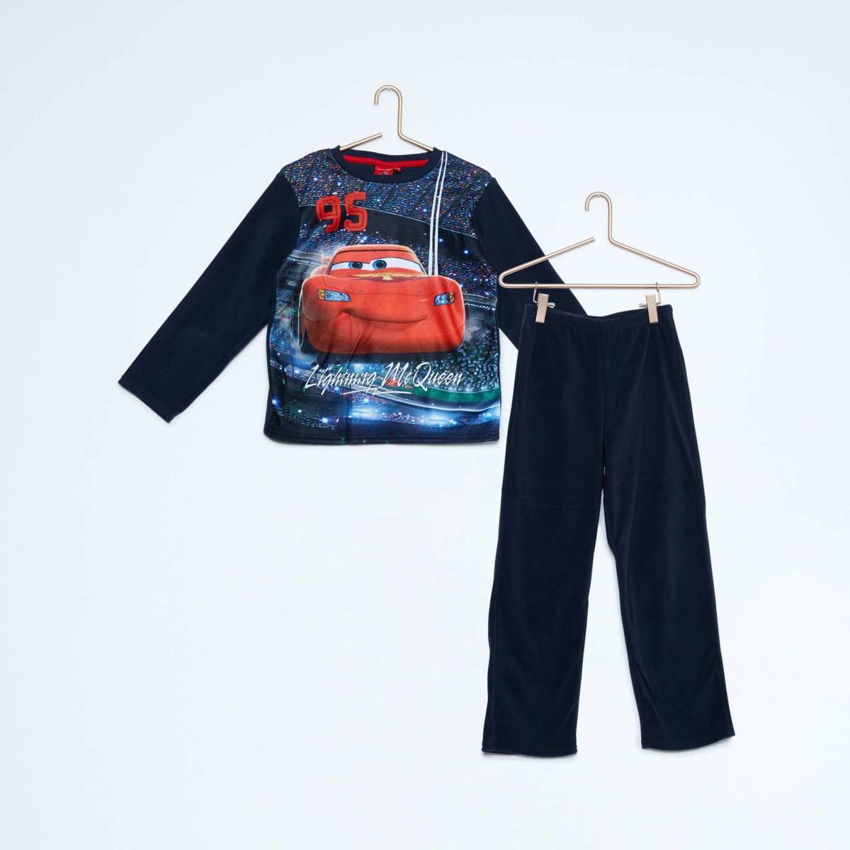 Cars - Pyjama long garçon polaire - 3 au 8 ans