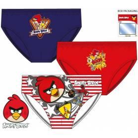 Angry Birds - Set van 3 slips voor jongens - 2 tot 8 jaar oud