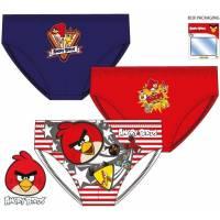 Angry Birds - Lot de 3 slip garçon - 2 à 8 ans