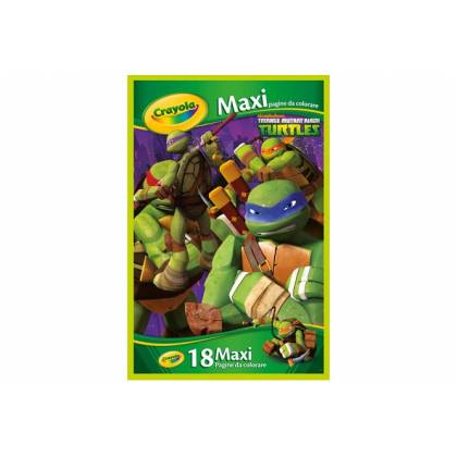 Les tortues ninja 18 maxi coloriage crayola - Maxi coloriage ...