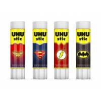 Lot de 4 sticks UHU 8,2 gr - Super Heros DC Comics