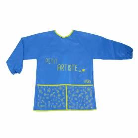 Tablier enfant 3/8 ans -peinture - bleu