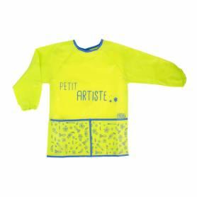 """Tablier Enfant - 3-8 ans-Cuisine et Peinture - Vert/Bleu """"Petit Artiste"""""""