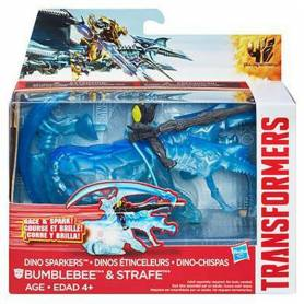 Transformers - Figurine Bumblebee & Strafe Vehicule à friction