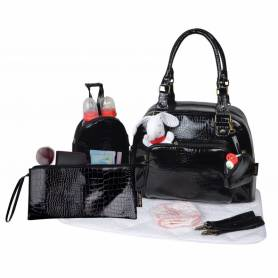 Baby On Board - Mon Croco Bag - Noir