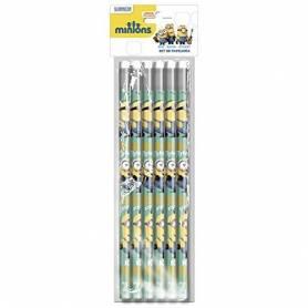 Les Minions - 12 Crayons à Papier