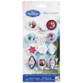 La Reine des Neiges - Lot de 12 Mini Gomme