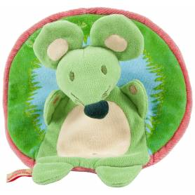 Baby To Love - Doudou Réversible Souris-Escargot + CD de 10 Comptines Inclus