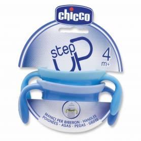 Chicco - Lot de 2 Anses pour Biberon Step Up - Bleu Clair/Bleu Océan