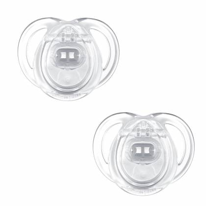 Tommee Tippee - Lot de 2 Sucettes Classique Any Time - 0/6 mois