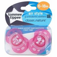 Tommee Tippee - Lot de 2 Sucettes Air Style - 6/18 mois
