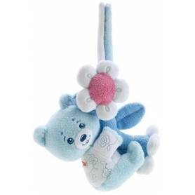 Trudi - Peluche - Ourson Bleu avec Strap - 18 cm